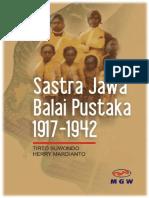 SASTRA JAWA BALAI PUSTAKA 1917--1942