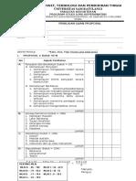 Penilaian Seminar Proposal & Ujian Akhir Reg 2009