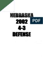 2002 Nebraska Corn Huskers 43 Defense - 168 Pages