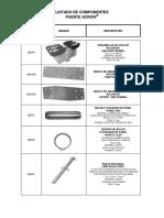 Catalogo Componentes PUENTE ACROW