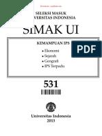 SOAL SIMAK UI 531 - 2013 - Kemampuan Ips