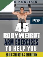 45 Bodyweight Arm Exercises 1