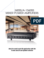 A-1000 Series Amplifiers Brochure