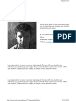 Denoizzed.com Templates CV Typography Black