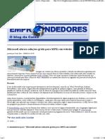 Microsoft Oferece Soluções Grátis Para MPEs Em Website « Empreendedores – O Blog Da Caixa