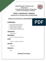 Unidad 4. Organizacion y Liderazgo.modelos de Los Rasgos Del Comportamiento Del Liderazgo
