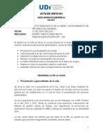 Acta de Visitas a Sede Barranca 27.06.2016