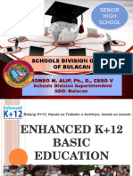 Revised Brigada Eskwela - Orientation on k to 12 and Senior High School