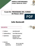 IMM 2043 Mineria Subterranea UC 1-2016 Clase 1