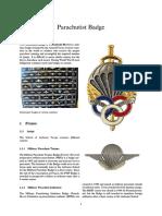0 UNI - World's Parachutist Badge