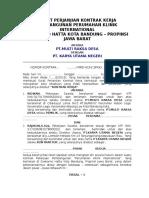 03. Kontrak Kerja Pembangunan Rumah Type 70 PT.karya Utama Negri
