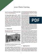 WW2 1943 WARSAW - Warsaw Ghetto Uprising