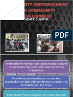 Community Empowerment Dan Community Development-2014