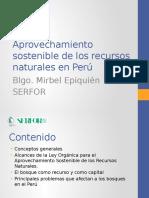 Aprovechamiento Sostenible de Los Recursos Naturales en Perú SERFOR