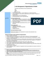 Hypokalaemia Guidelines NHS