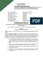 Lgu-baler Ordinance No 009-2012