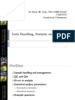 Data Handling, Statistic and Errors