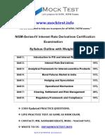 NISM Series IV Interest Rate Derivatives
