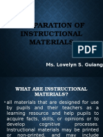 Preparation of Instructional Materials New