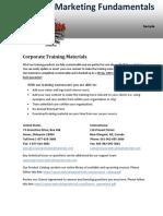 Internet Marketing Fundamentals Sample