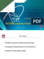 WCDMA Capacity Dimensioning