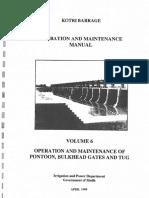 O & M Manual - Volume 6 - Kotri Barrage