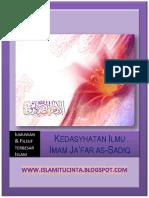Kedasyhatan Ilmu Imam Ja'Far as-sadiq (as)