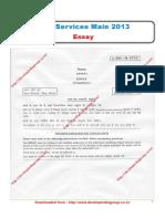 Civil Services Main 2013 Essay