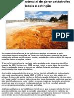 Vulcões Com Potencial de Gerar Catástrofes Globais e Extinção