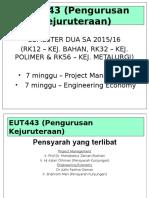 Chapter 1 - EUT443 engineering management