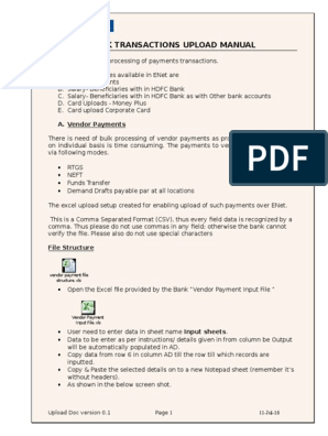 Upload Manual Bulk Payments_040216 | Microsoft Excel | Debits And