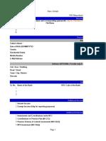 ITR Summary Sheet