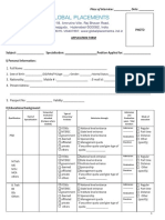 Global Placement Application Form