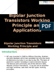 Bipolar Junction Transistors Working Principle and Applications