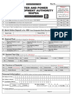 Wapda Application Form