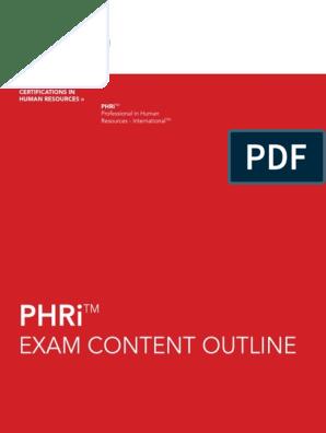 Final Phri Exam Content Outline | Recruitment | Employee Benefits