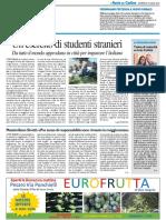 Un esercito di studenti stranieri - Il Resto del Carlino del 10 luglio 2016