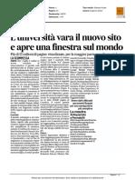 L'Università di Urbino apre il nuovo sito - Il Corriere Adriatico del 10 luglio 2016