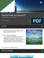Sneek Peek PT Cloud
