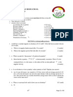 Physics mechanics trial questions