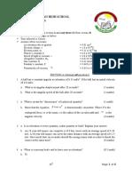 Physics mechanics trial questions