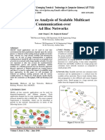 Performance Analysis of Scalable Multicast Communication over Ad Hoc Networks