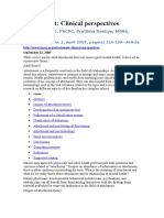 Attachment Clinical Perspectives