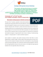 Machine Learning Workshop Brochure