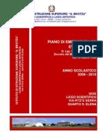 Piano di Emergenza ed Evacuazione 2010 Scientifico Brotzu