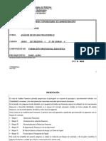 Análisis de Estado Financiero II CONTADURIA