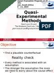 Quasi Experimental Methods