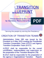PGMA's Transition Plan for Next Administration