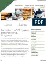 Formation HACCP, Formation en Hygiène Alimentaire