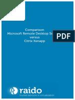 Citrix vs Remote Desktop Service